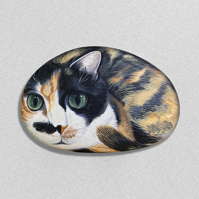 石藝品似顏繪-三花妹(僅一顆)